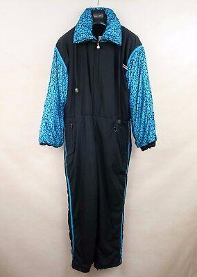 Ariba Vintage Womens Padded Ski Suit One Piece Uk 16 Eu 42 Usa 12  All In One