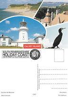 1990's Multi Views Of Caldey Island Pembrokeshire Wales Unused Colour Postcard -  - ebay.co.uk