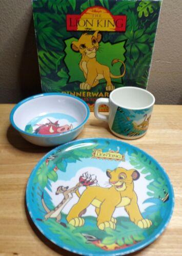 Vintage Rare Disney Lion King Dinnerware set by Zak