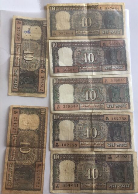 Old Indian 10 rupee notes | Collectables | Gumtree Australia