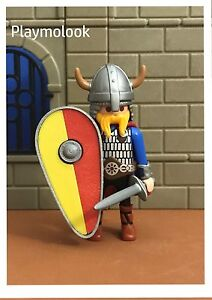 UN-ESCUDO-COMETA-CUSTOM-VIKINGOS-KNIGHT-SHIELD-PIEZAS-PLAYMOBIL-NO-INCLUIDAS