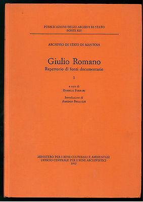 ROMANO REPERTORIO FONTI DOCUMENTARIE 2 VOLUMI MANTOVA LOMBARDIA