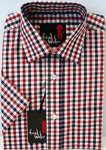 Mens Short Sleeve Big Size Summer Check Shirts 2XL - 4XL Cotton Blend
