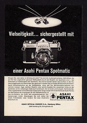 3w2652/ Alte Reklame von 1968 - Asahi PENTAX Spotmatic