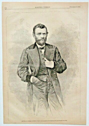 """LIEUTENANT-GENERAL ULYSSES S. GRANT "" CIVIL WAR rare original authentic 1865"