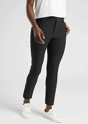 ATHLETA Stellar Trouser 12 L LARGE Black Summer Travel Work Pant