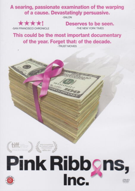 Pink Ribbons Inc. DVD - Cancer, Chemotherapy, fund raising, health, sickness