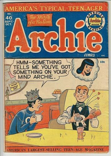 Archie Comics #40 VG- ONLY 15 Graded Copies!
