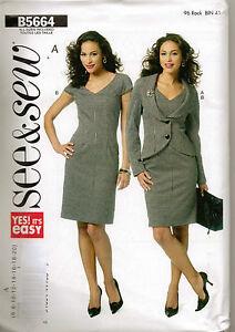 From-UK-Sewing-Pattern-Ladys-Dress-Jacket-6-20-Butterick-5664