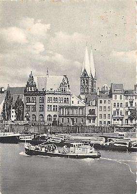 Bg21881 Bremen Weser Mit Uferstrasse Tieler Germany   Cpsm 14 5X9cm