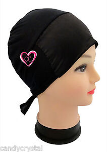 Ladies SATIN Hair Bonnet Cap Hijab Head Under Scarf Hair Cover Cap with Ties