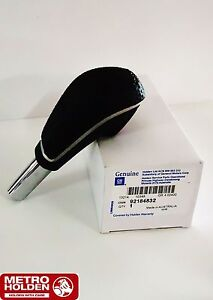 Genuine-Holden-New-Black-Leather-Shifter-Knob-to-suit-VE-Commodore-Automatic