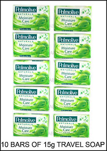 10 BARS OF 15g HOTEL SIZE PALMOLIVE MOIST SOAP IDEAL FOR B & B CARAVANS & TRAVEL
