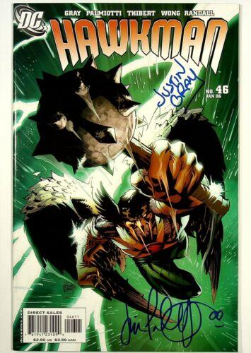 Hawkman #46 Signed x2 Jimmy Palmiotti Justin Gray DC Comics