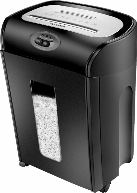 Open-Box Excellent: Insignia- 10-Sheet Microcut Shredder - Black