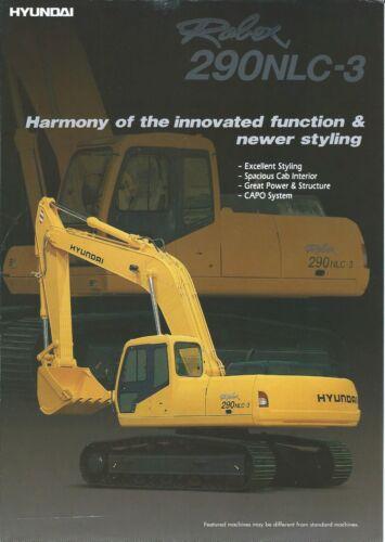 Equipment Brochure - Hyundai - Robex 290NLC-3 - Excavator - c1990