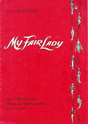 "Lerner & Loewe ""MY FAIR LADY"" Cast Autographed 1964 Zurich, Switzerland Program"