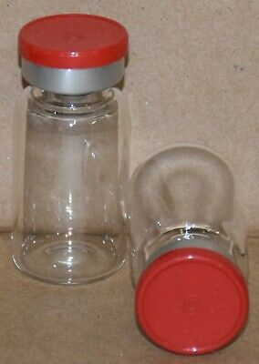 Usp 10 Ml Clear Sterile Vial With Red Plain Flip Off Seal 2 Pack