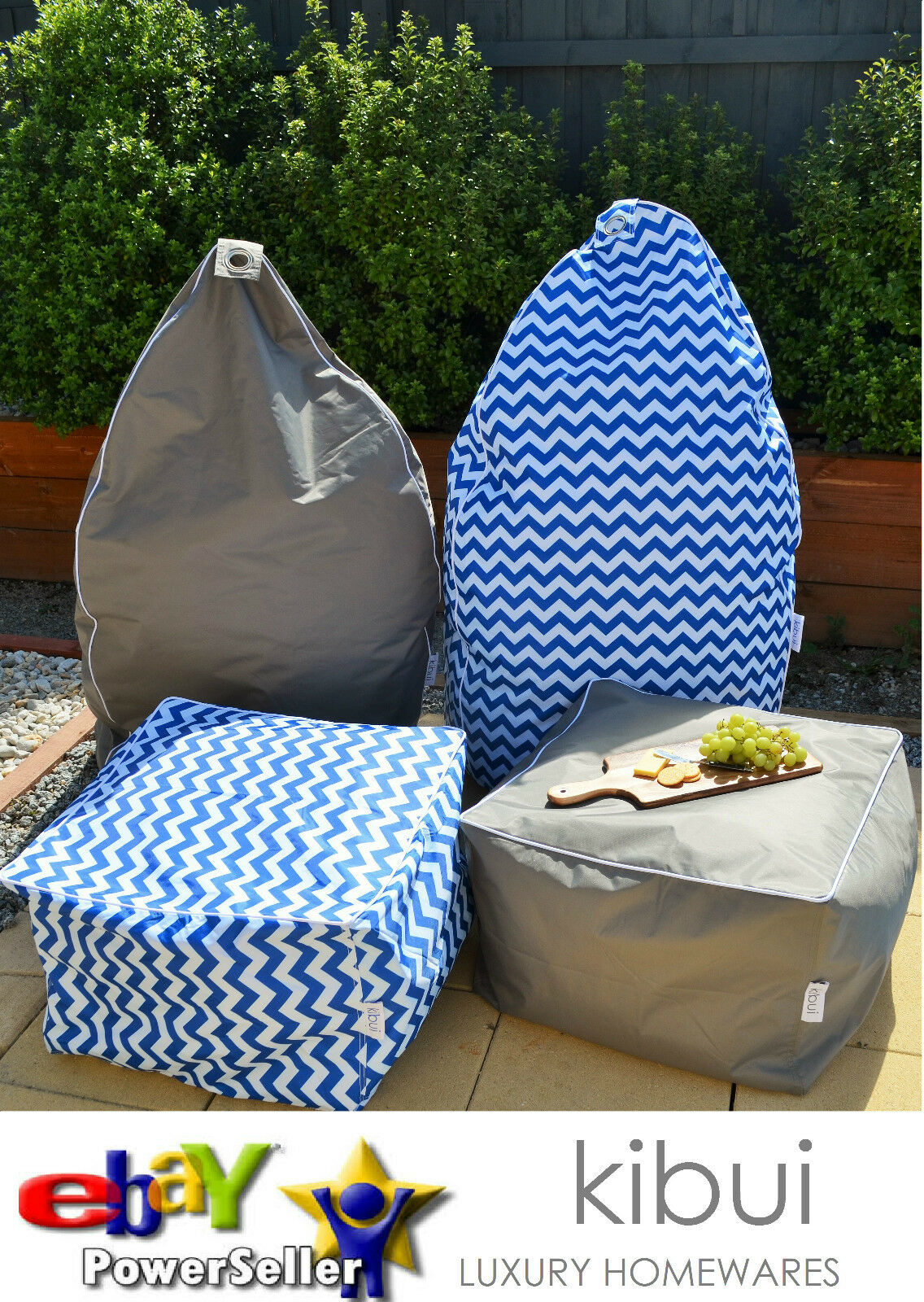 Super Comfy OUTDOOR INDOOR BEAN BAG OR OTTOMAN Extra Large A