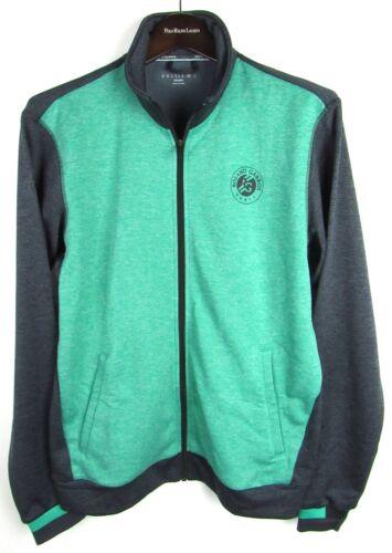 Roland Garros Climalite Tennis Polo Jacket Gray Green Track Jacket M Medium NWT