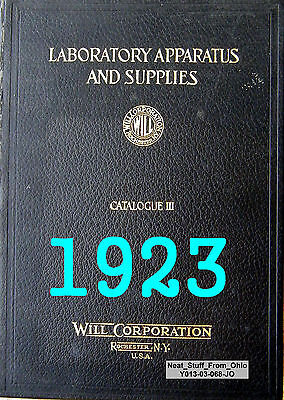 Will Corporation - Laboratory Apparatus Supplies - Cat. Iii 1923 - Very Rare