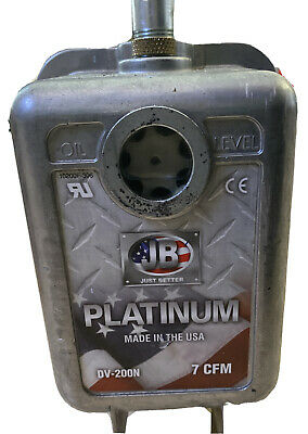 Jb Industries Dv-200n Platinum 7 Cfm Vacuum Pump 2 Stage 12 Hp Vacuum Pump