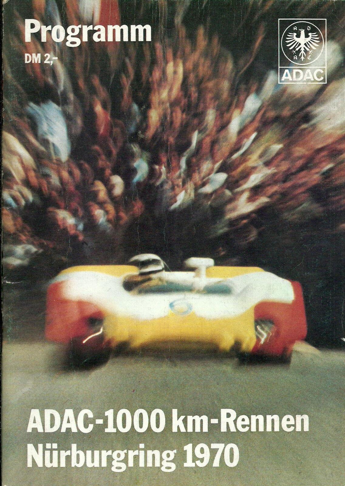ADAC-1000km-Rennen 1970 Nürburgring Programmheft