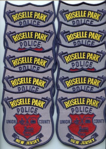 ROSELLE PARK NEW JERSEY Patch Lot Trade Stock 10 Police Patches POLICE PATCH