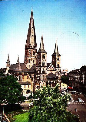 Bonn am Rhein , Münsterkirche   ,Ansichtskarte, gelaufen