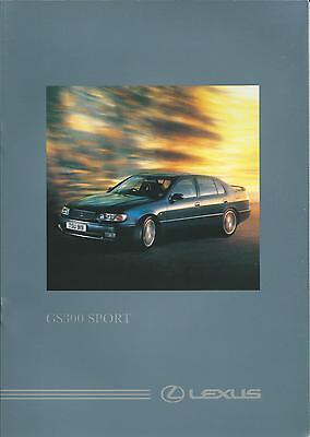 Lexus GS300 Sport 3.0 24v UK Market Brochure Circa 1995-1996 16 Pages