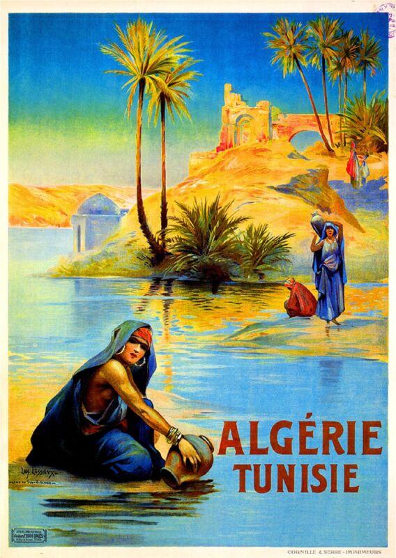 Algeria Tunisia Algerie Tunisie Africa Art Travel Poster Advertisement Print