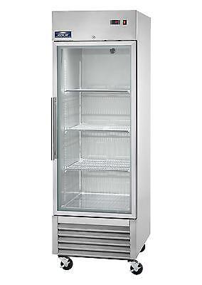New Arctic Air Singleone Door Glass 23cuft Reach-in Refrigerator - Agr23