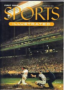 SPORTS-ILLUSTRATED-1954-1-FIRST-ISSUE-COLLECTIBLE-REPRINT-W-CARDS-MAYS-WILLIAMS