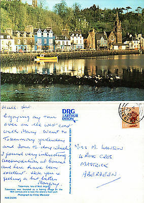 1980 TOBERMORY ISLE OF MULL SCOTLAND COLOUR POSTCARD