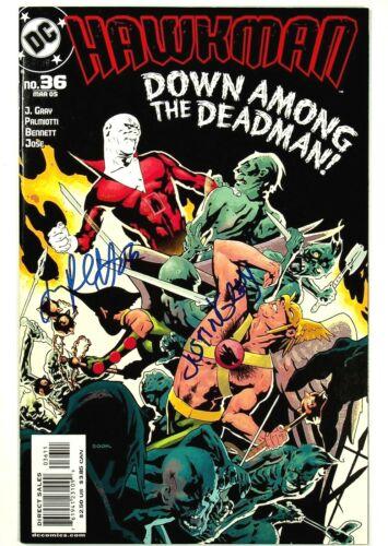 Hawkman #36 Signed x2 Jimmy Palmiotti Justin Gray DC Comics