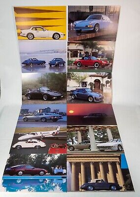 Vintage Porsche Poster Lot Foam Back 1980s 12 Posters Awesome! 911 Carrera