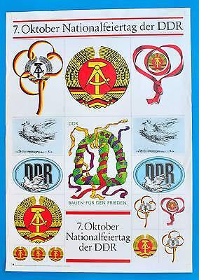 DDR Plakat Poster 992 | 7. Oktober 1987 Nationalfeiertag | 87 x 61 cm Original