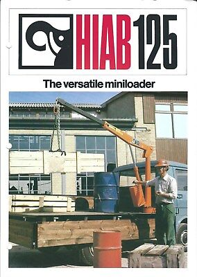 Equipment Brochure - Hiab - 125 - Crane Miniloader For Truck - C1970s E4778