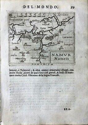 """""""NAMURCUM"""", Abraham Ortelius, ca.1667."""