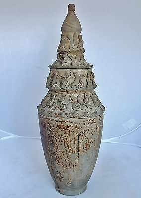 Song Dynasty  Antique Chinese Pottery Figural Vase Or Temple Urn W  Lid  14 25