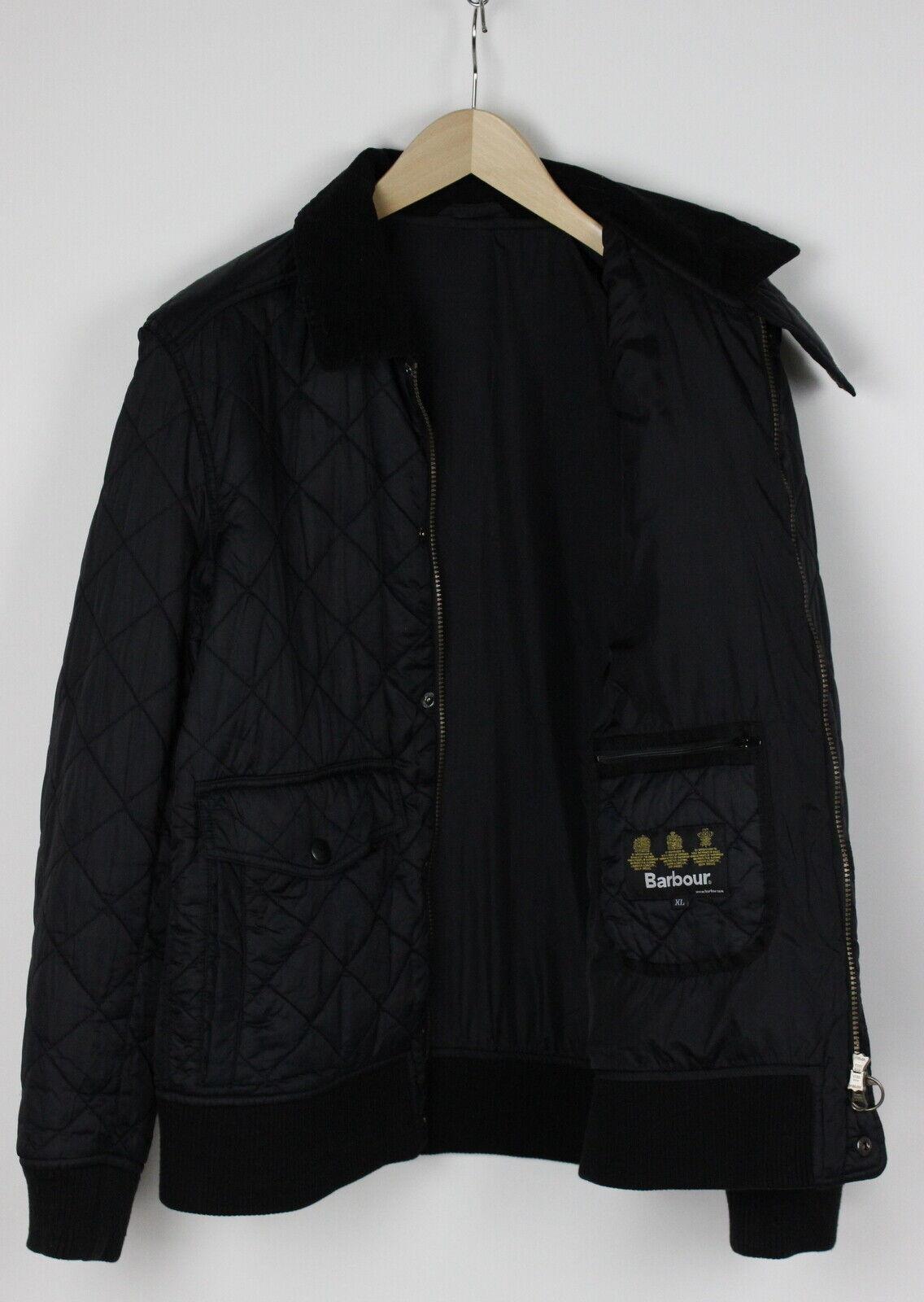 Barbour embleton blouson homme x large matelassé velours bordure veste 31438-gs