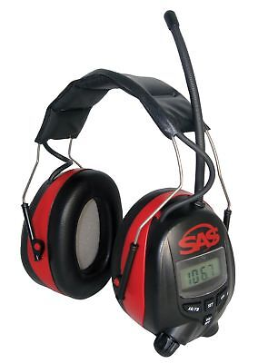 Sas Safety 6108 Digital Earmuff Hearing Protection With Amfm Radio And Mp-3 ...