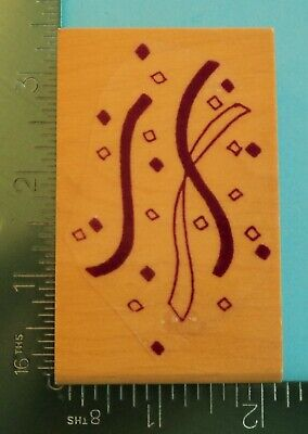 CONFETTI and STREAMERS Rubber Stamp by Lasting Impressions  Birthday Party (Streamers And Confetti)