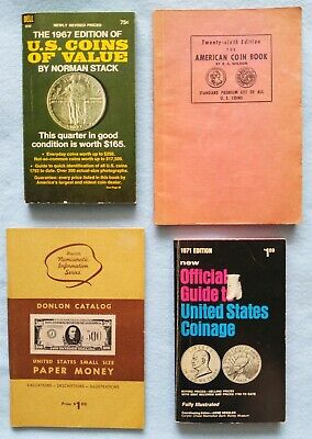 QUARTET OF COIN & PAPER MONEY GUIDE BOOKS
