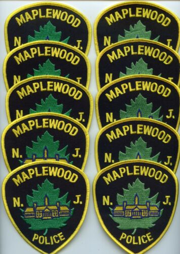 MAPLEWOOD NEW JERSEY Patch Lot Trade Stock 10 Police Patches POLICE PATCH