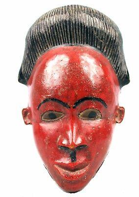 Art African Tribal - Antique Pasport Small Mask Family Baoulé 19 CMS