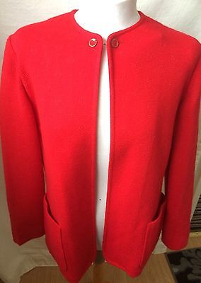 VINTAGE LADIES CARDIGAN/JACKET BUTTON & CHAIN FASTENING SIZE M