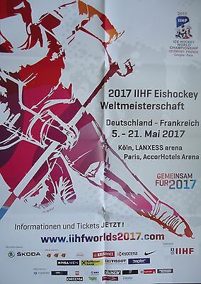 Plakat IIHF Eishockey Weltmeisterschaft 2017 Köln / Paris