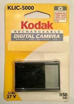 KODAK KLIC-5000 KLIC5000 original genuine rechargeable Li-Ion Battery NEW SEALED