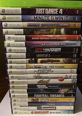Używany, Xbox 360 Kinect Games lot of 21 Huge Lot!!! na sprzedaż  Wysyłka do Poland